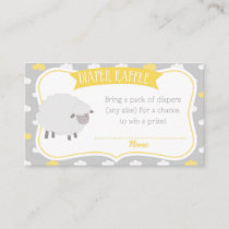 Sheep & Cloud Diaper Raffle Insert Enclosure Card
