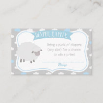 Sheep & Cloud Diaper Raffle Insert (Gray & Blue)