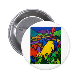 Sheep Color by Piliero Pinback Button