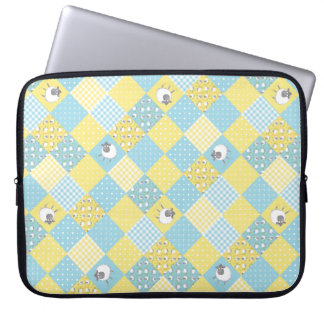 Sheep, Country Faux Patchwork Laptop Sleeve