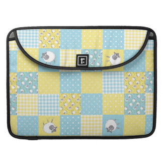Sheep, Country Faux Patchwork MacBook Pro Sleeve