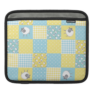 Sheep: Country-style Faux Patchwork iPad Sleeve