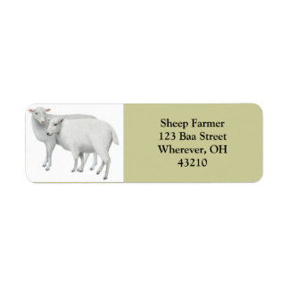 Sheep Couple Customizable Label
