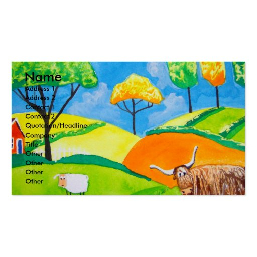 SHEEP COW FOLK PAINTING BUSINESS CARD