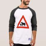 Sheep Crossing, Traffic Sign, Norway T-shirt