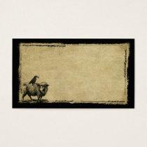 Sheep & Crow Stack- Grunged Prim Biz Cards