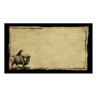 Sheep Crow Stack- Grunged Prim Biz Cards Business Cards
