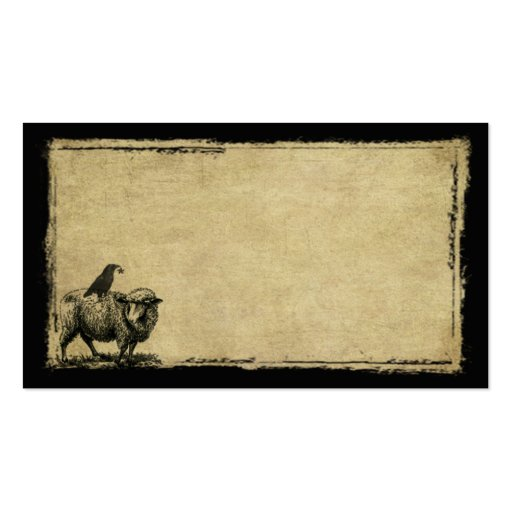 Sheep & Crow Stack- Grunged Prim Biz Cards Business Cards