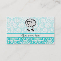 Sheep; Cute Business Card