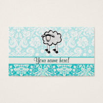 Sheep; Cute Business Card