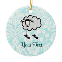 Sheep; Cute Ceramic Ornament