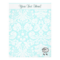 Sheep; Cute Letterhead