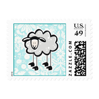 Sheep; Cute Postage