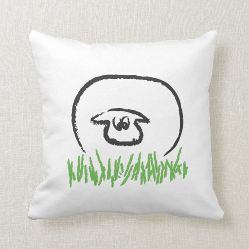 Sheep decorative throw pillow (square)