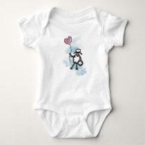 Sheep design baby bodysuit