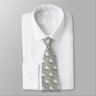 Sheep Design Neck Tie