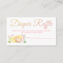 Sheep Diaper Raffle Card Tickets for Baby Shower