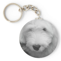 Sheep Dog Photo Keychain