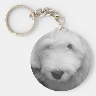 Sheep Dog Photo Keychain