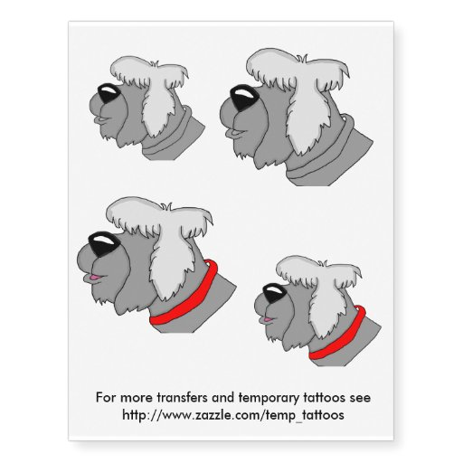 sheep dog transfers and temporary tattoos zazzle. Black Bedroom Furniture Sets. Home Design Ideas