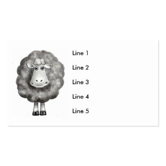 SHEEP DRAWING BUSINESS CARD