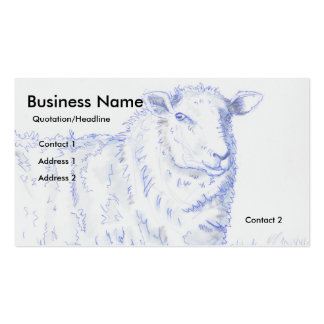 Sheep Drawing Business Cards