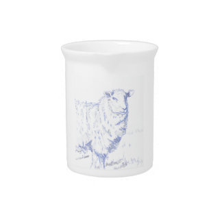 sheep drawing drink pitcher