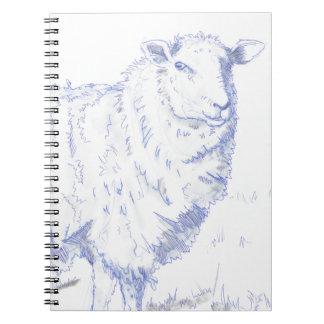 sheep drawing note book