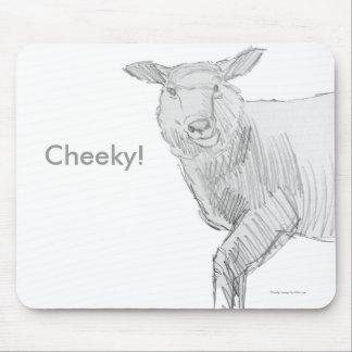 sheep drawing sketch mouse pad