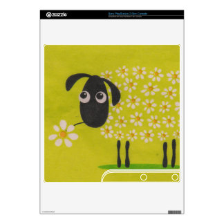 Sheep drawing PS3 slim console decal