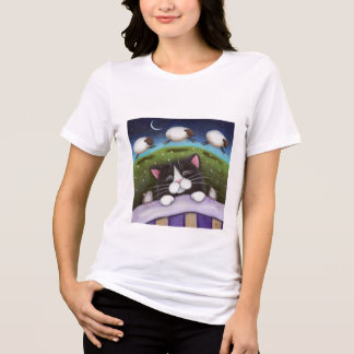 Sheep Dreams Ladies Long Sleeve (fitted) T-Shirt