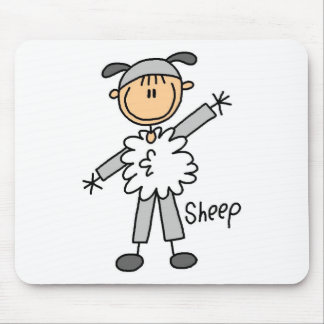 Sheep Dress Up T-shirts and Gifts Mouse Pad