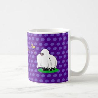 "Sheep dressed up as a ghost going ""Boo"" not Baa, Coffee Mug"