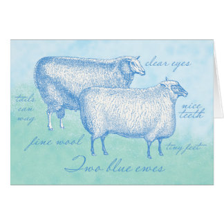 Sheep Enclosure Cards for your Hand-Crochet Gifts