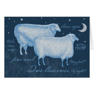 Sheep Enclosure Cards for your Hand-Knitted Gifts