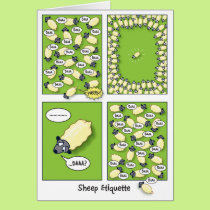 Sheep Etiquette (birthday) Card