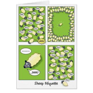 Sheep Etiquette birthday Cards