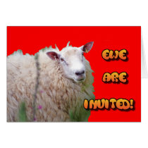 "Sheep ""Ewe are invited"" Card"
