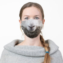 Sheep Face Animal Adult Cloth Face Mask