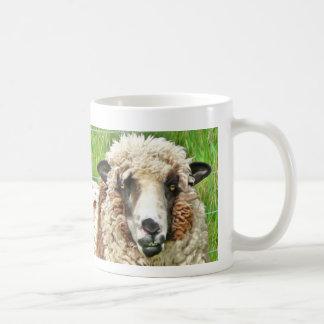 sheep face before coffee classic white coffee mug