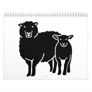 Sheep family wall calendars