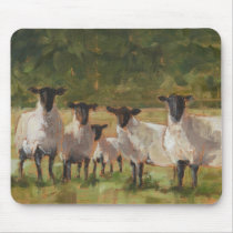 Sheep Family Mouse Pad
