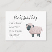 Sheep Farm Animal Baby Shower Book Request Enclosure Card
