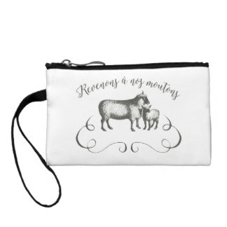 Sheep Farm Funny French Expression Vintage Style Coin Purse
