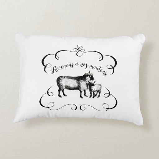 Sheep Farm Funny French Expression Vintage Style Decorative Pillow Zazzle