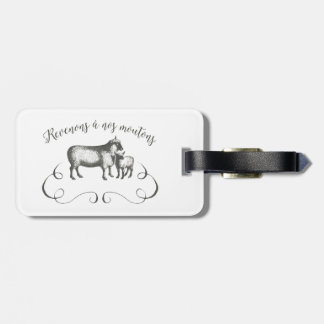 Sheep Farm Funny French Expression Vintage Style Luggage Tag
