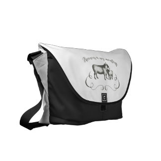 Sheep Farm Funny French Expression Vintage Style Messenger Bag