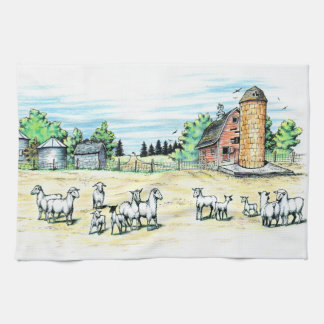 Sheep Farm Hand Towel