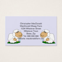 Sheep Farm Personalized Business Card