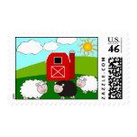 Sheep Farm Postage Stamps